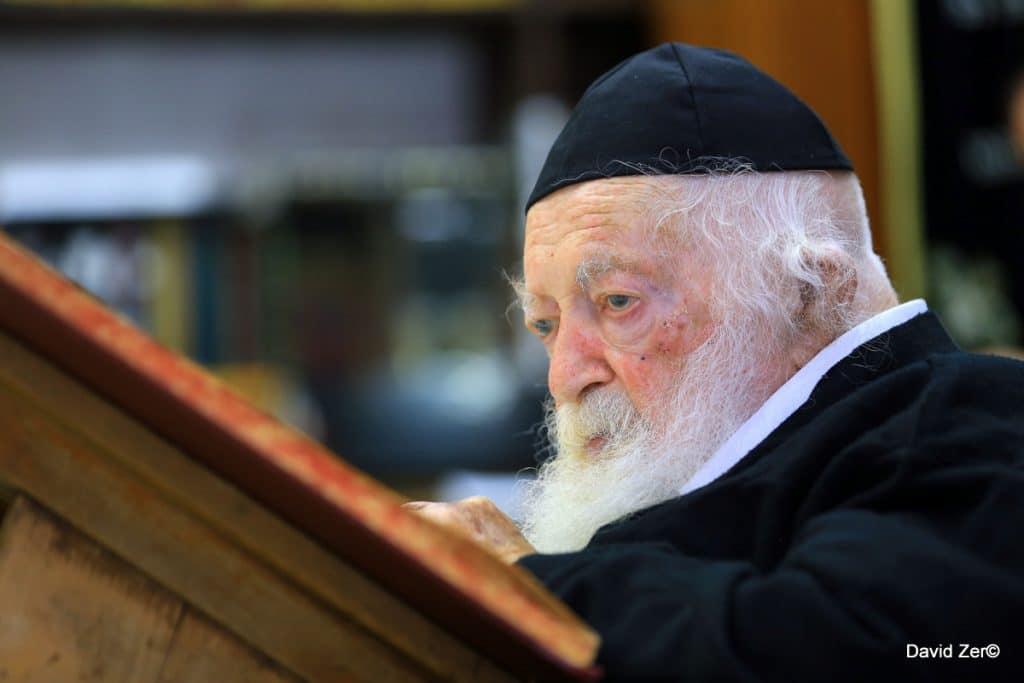 """מרן הגר""""ח קניבסקי/צילום: דוד זר"""