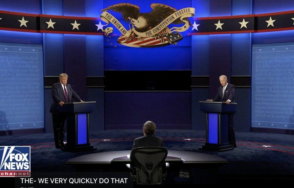 עימות בין טראמפ לביידן