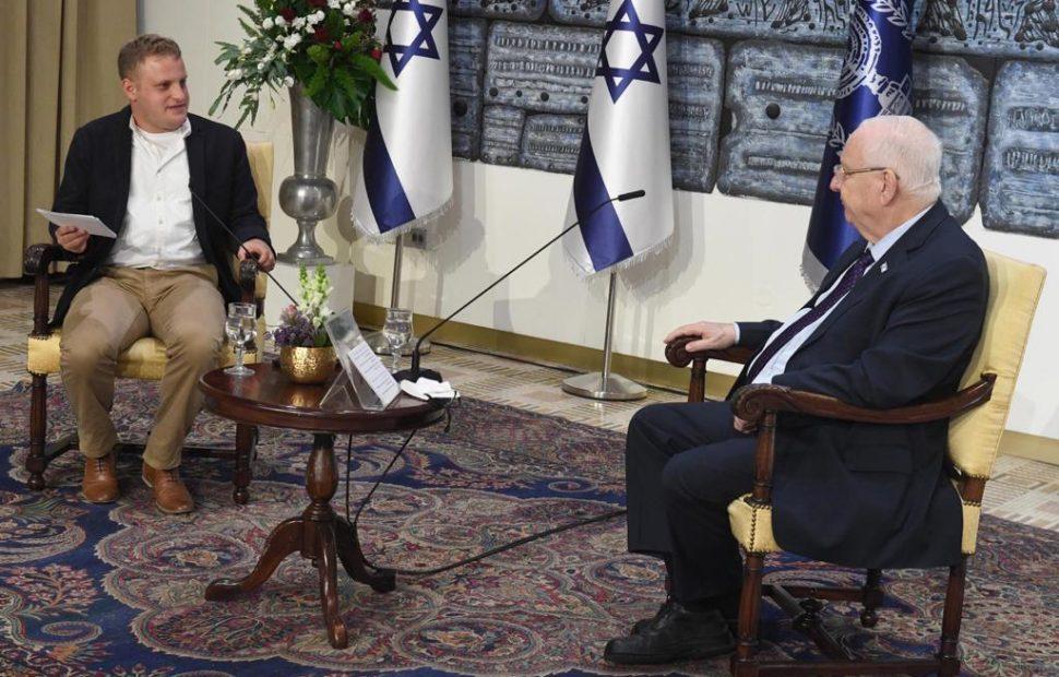 נשיא המדינה בראיון לאורי בן יצחק | צילום: מארק ניימן לע