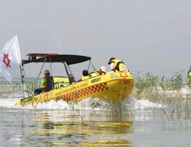 סירת חילוץ של מגן דוד אדום   צילום: דוברות מד