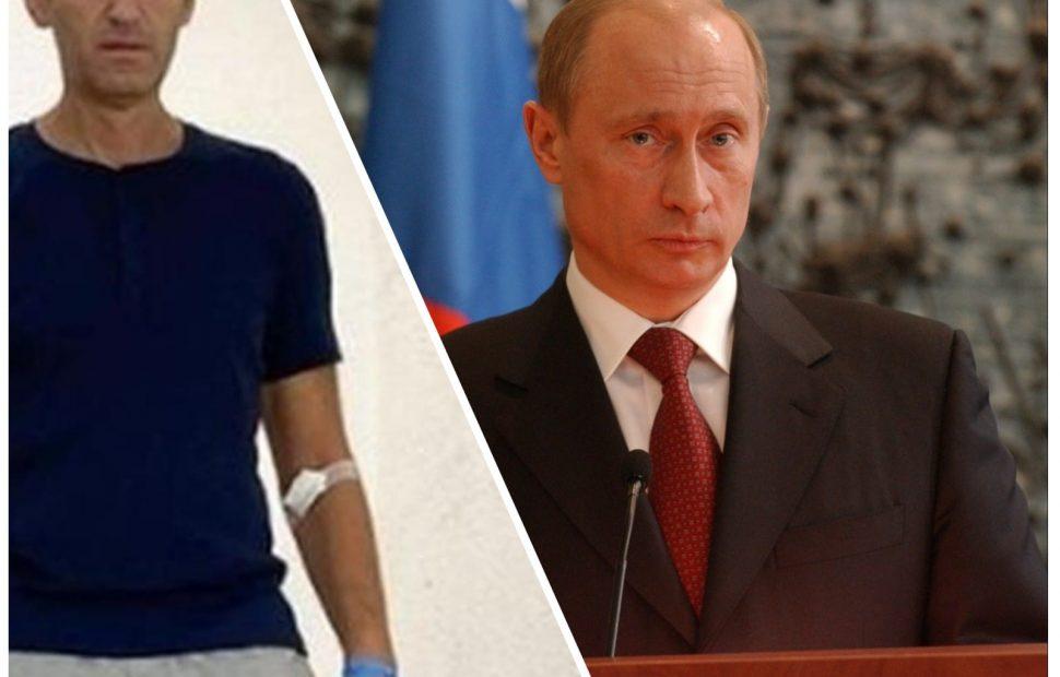 נשיא רוסיה פוטין וראש באופזיציה אלכסיי נבלני   פלאש 90