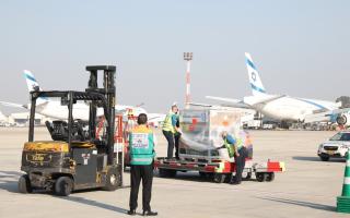 חיסונים של מודרנה מגיעים לישראל // צילום: מסוף המטענים ממן בנתב