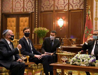 פגישת משלחת ישראלית עם מלך מרוקו צילום: עמוס בן גרשום לע