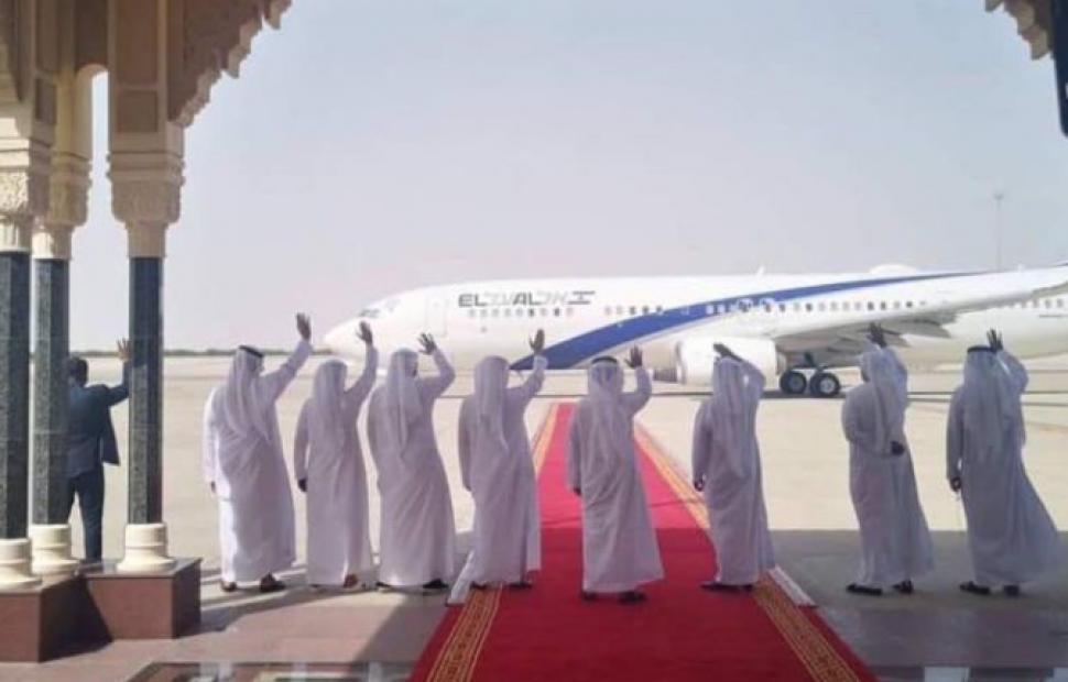 תמונת השלום - המשלחת הישראלית-אמריקנית עוזבת את אבו דאבי
