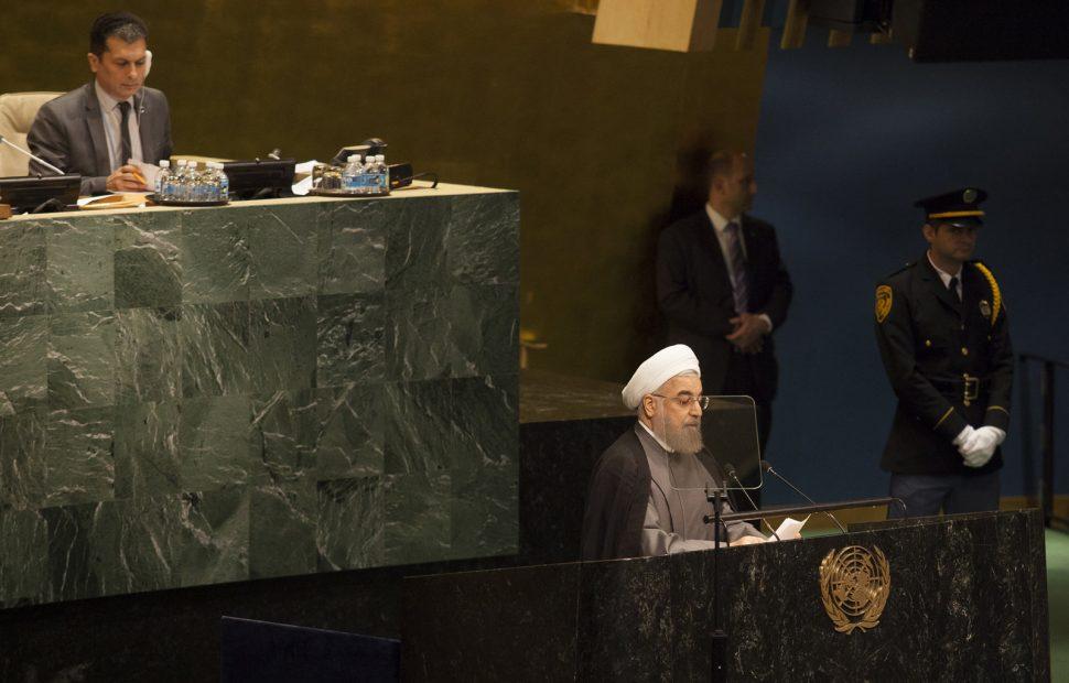 נשיא איראן, רוחאני במליאת האו
