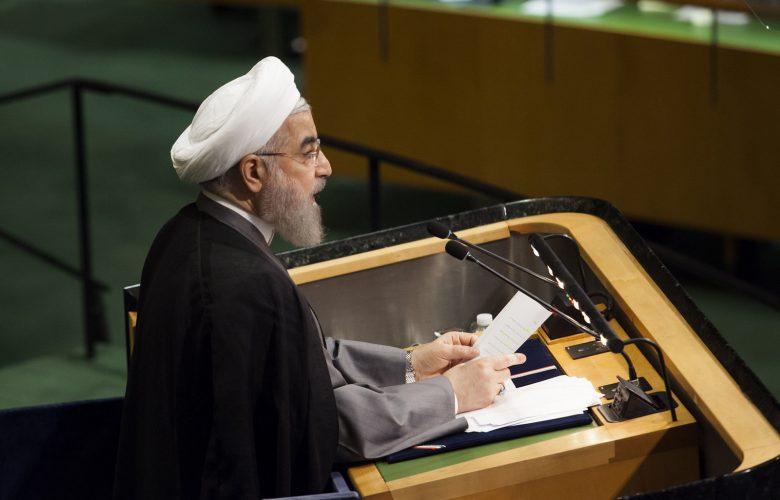 נשיא הרפובליקה האסלאמית של איראן, חסן רוחאני, במטה האו