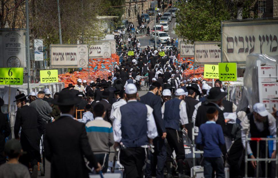 קמחא דפסחא בירושלים | צילום: Yonatan Sindel/Flash90