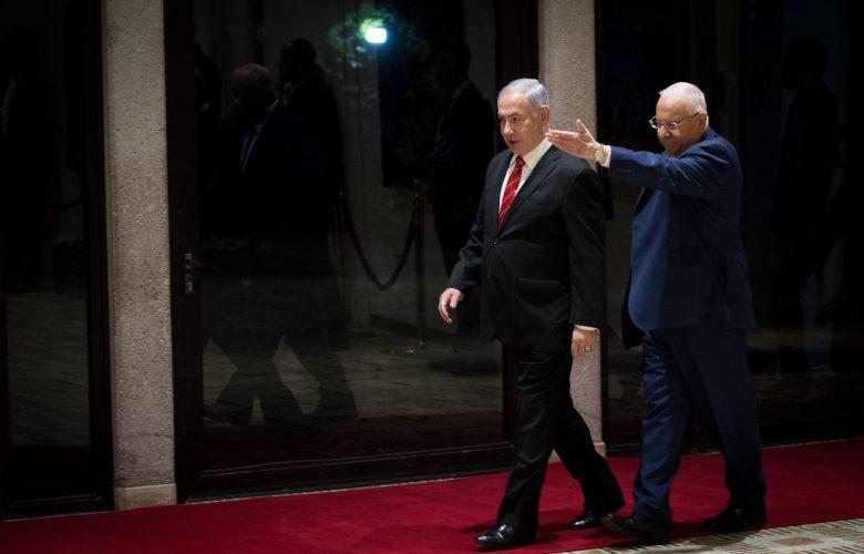 נתניהו בבית הנשיא   צילום: Yonatan Sindel/Flash90