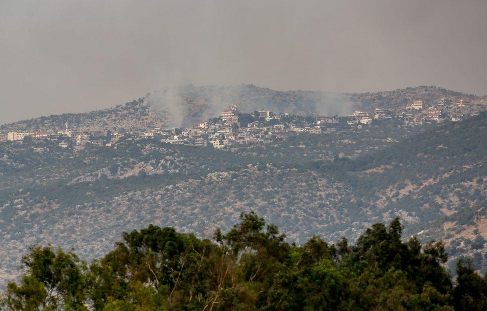 זירת האירוע בגבול לבנון // צילום: דוד כהן - Flash 90
