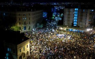 ההפגנות בבלפור, | צילום: יונתן סינדל / פלאש 90