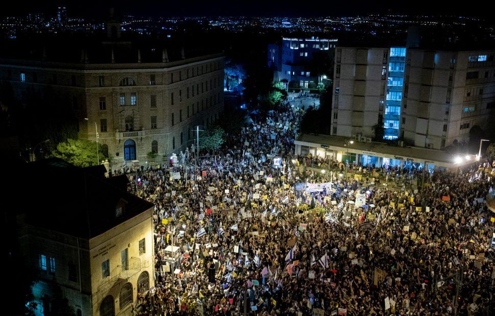 ההפגנות בבלפור, | צילום: יונתן סינדל / פלאש90
